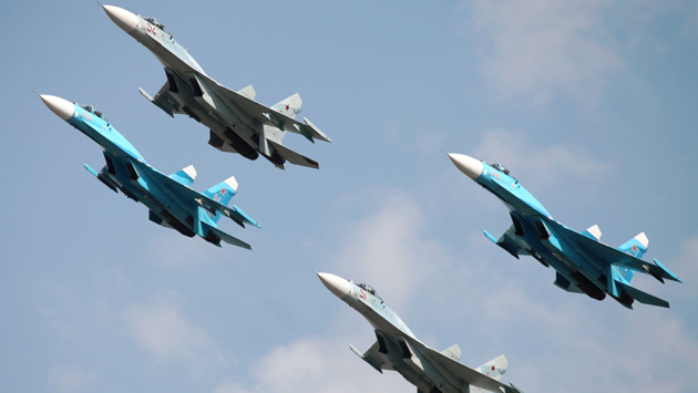 Российские истребители 9 раз поднимались на защиту границ родины
