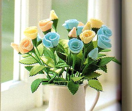 Цветы из фетра своими руками — мастер-класс