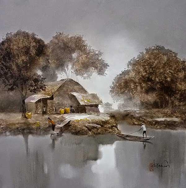 Вьетнамский художник Данг Ван Кан / Dang Van Can и его нежная живопись