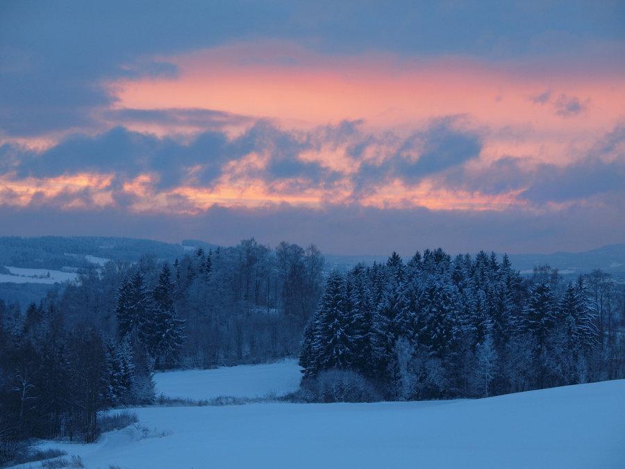 Зимний пейзаж, by Morgan-Lou