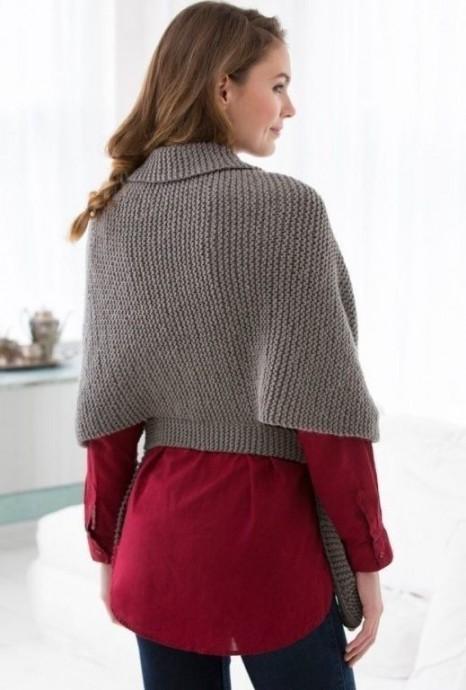 Винтажный шарф-свитер