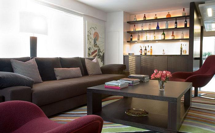 Стильная гостиная в мужском стиле от Axis Mundi