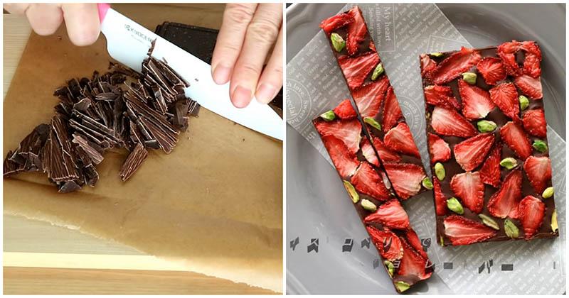 Натуральный и вкуснейший десерт из клубники и шоколада