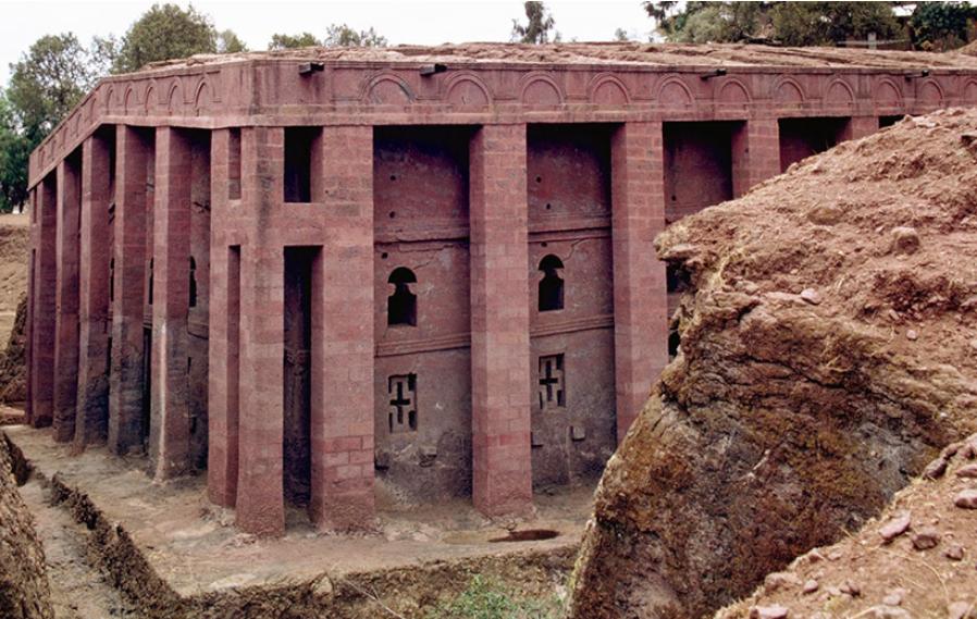 Храм Спасителя в Лалибэле Эфиопия