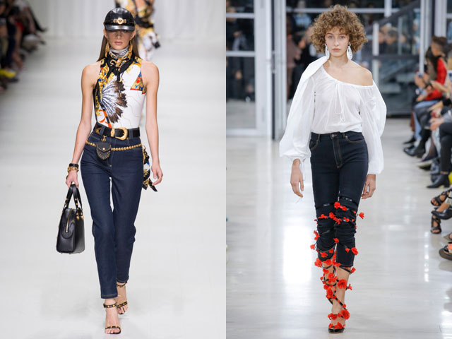 Модные джинсы скинии 2018