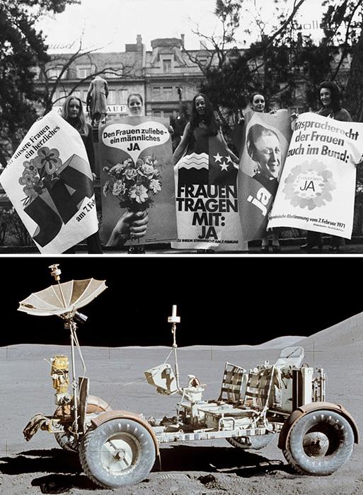 Исследование Луны и права женщин.