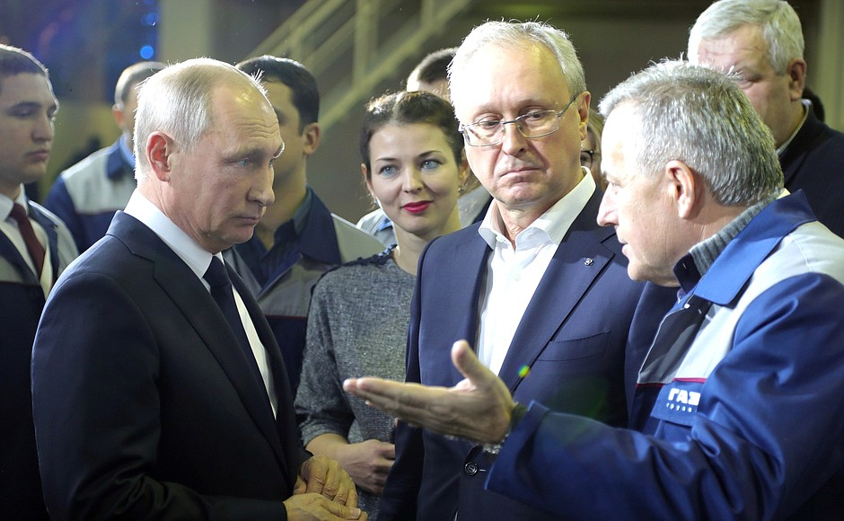 Беседа с работниками Горьковского автомобильного завода