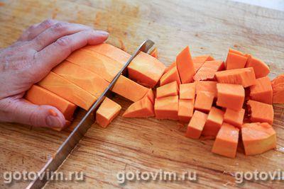 Салат из печеной тыквы со свеклой и брынзой, Шаг 01