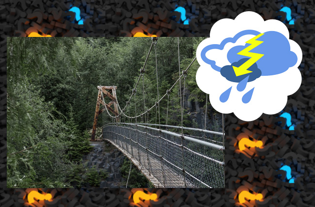 Невидимая стена возникла перед мостом