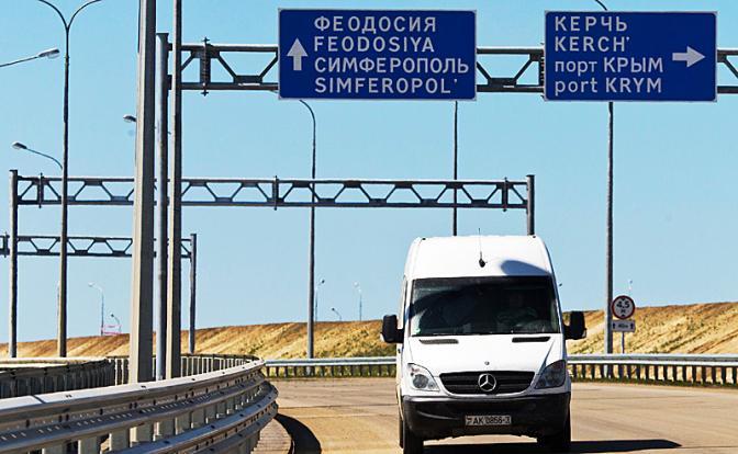 Крымчане вырвались на материк по великому мосту и ужаснулись