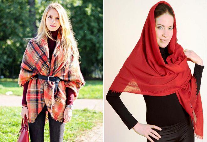 как носить шарф палантин