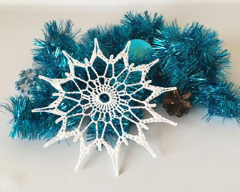 Вязаная снежинка невероятной красоты вязание крючком,рукоделие,своими руками,снежинка