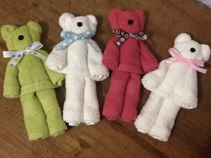 Как сделать медвежонка из полотенца и резинок для подарка: пошаговая инструкция мастер-класс,подарки