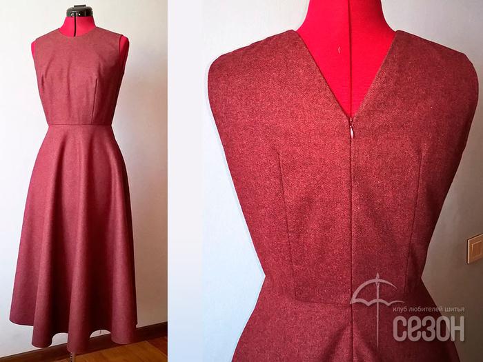 Обработка проймы платья на подкладке