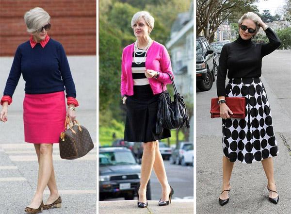 Юбки для женщин среднего и пожилого возраста