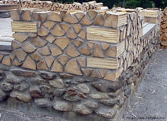 Эко-строительство. Тёплый дом из обычных дров своими руками!