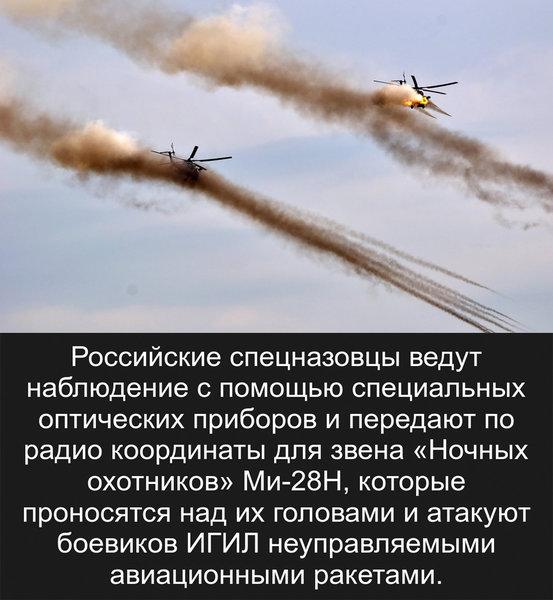 Российские вертолеты устроили в Сирии боевикам смертельную «карусель»