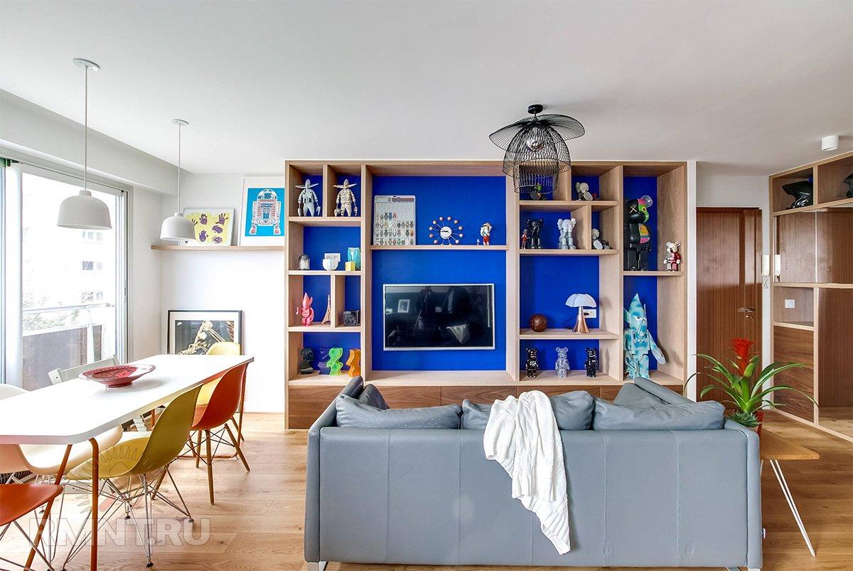 Синий цвет Кляйна — особенности использования в интерьере