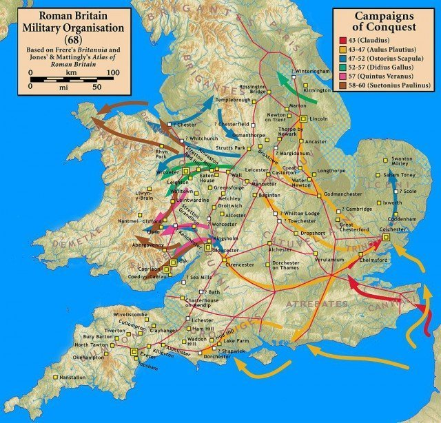 Походы римских легионов с 43 по 60 гг. н.э.. Завоевание Британии Клады, археология, интересно, история, сокровища