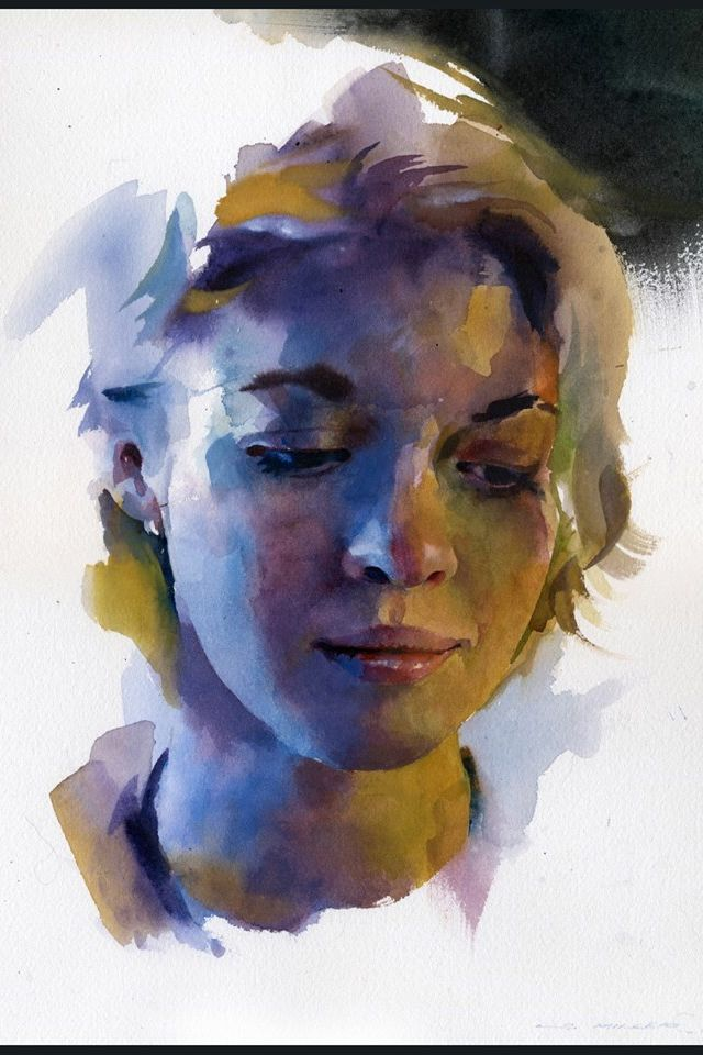 картинки акварелью портреты