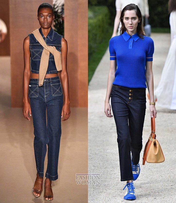 Модные джинсы весна-лето 2019 фото №24