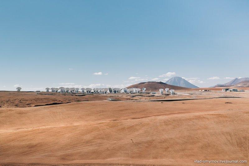 Комплекс радиотелескопов в пустыне Атакама - ALMA наука, путешествия, факты, фото