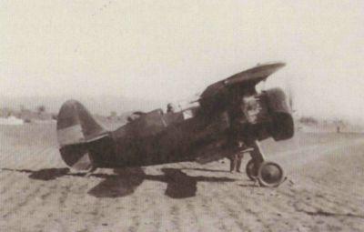 И-15 на аэродроме Ла-Сенера