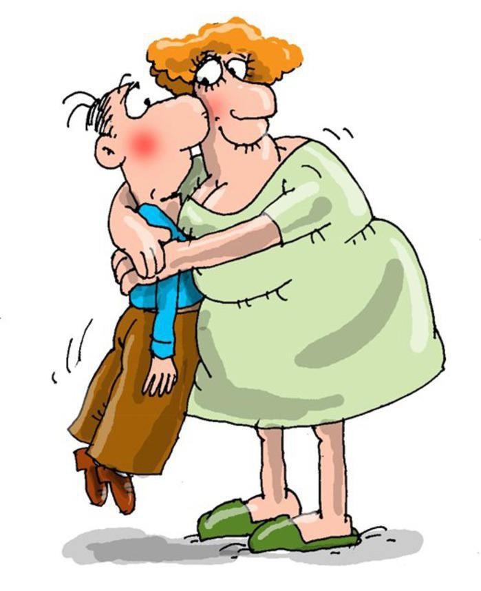 Муж и жена прикольные картинки мультяшные