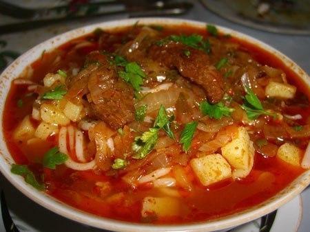 Лагман узбекский густой суп - простое в приготовление аппетитное блюдо