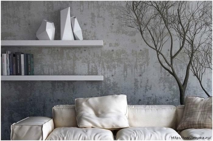 Ремонт своими руками: декор интерьера бетоном!