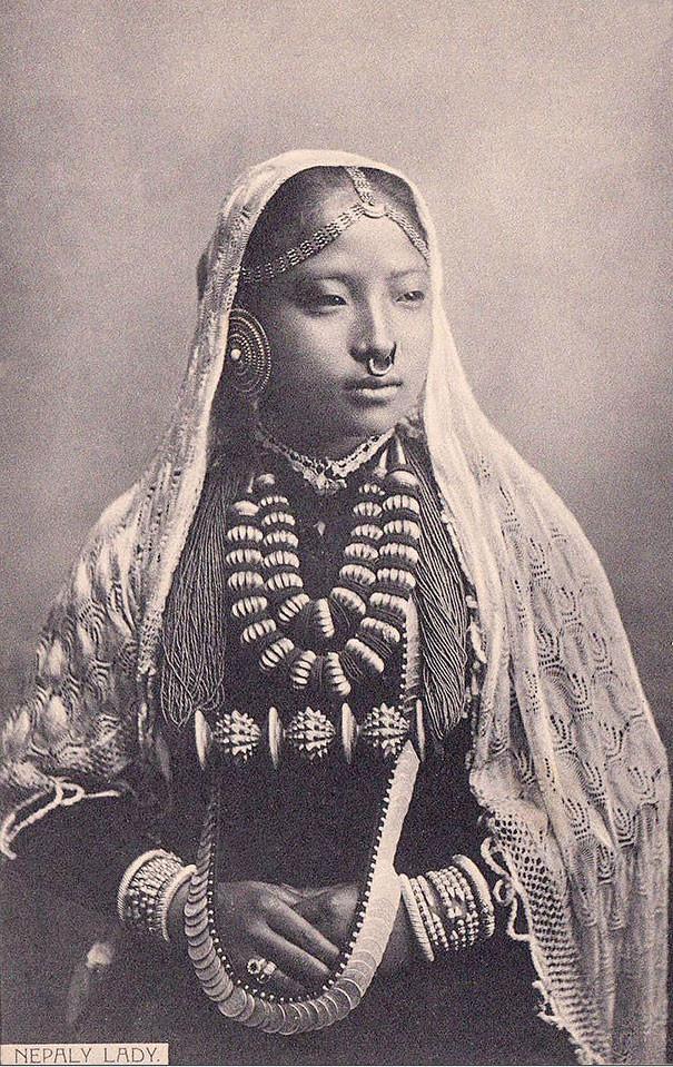 Непальская женщина винтаж, женщины, красота, открытки, фото