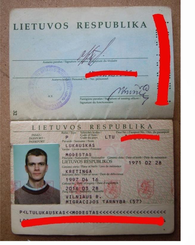 Я как гражданин Литвы принош…
