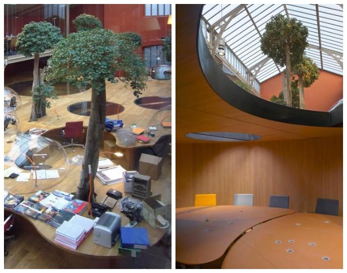 В офисе есть и общие рабочие зоны, и зал для совещаний (Компания Pons&Huot, Франция).