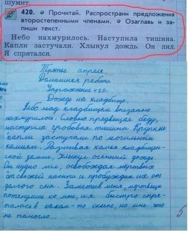 Убойные записи из дневников и тетрадей школьников