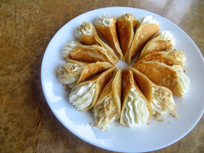 Арабские блинчики с кремом Вкусно, Готовим дома, Другая кухня, Длиннопост, Еда, Блины, Масленица, Видео