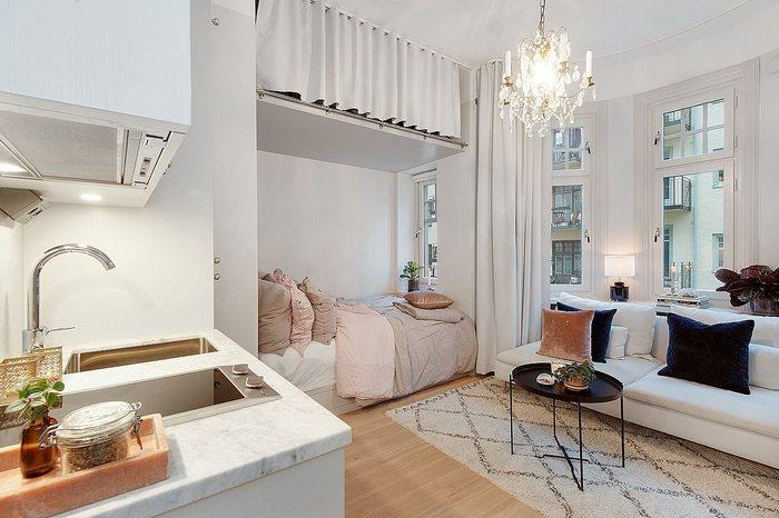 Меньше хрущёвки: квартира 18 кв.м. - невероятно светлая и уютная