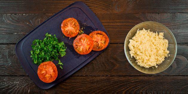 отбивная из куриного филе с помидорами: помидоры и сыр