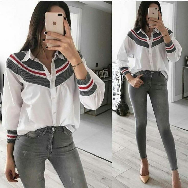 Блуза с кашкорсе