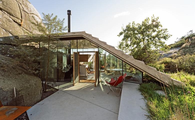 Дом с уникальной крышей – смотровой площадкой