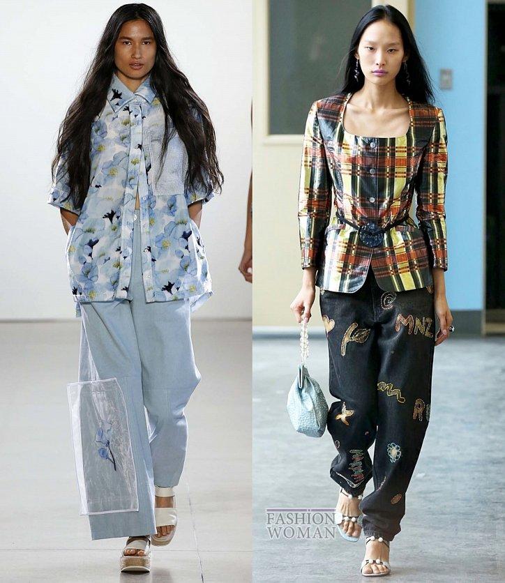 Модные джинсы весна-лето 2019 фото №41