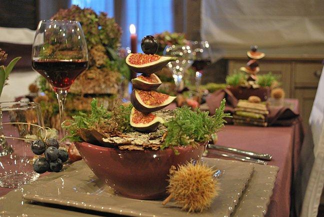 Каштаны, инжир и яблоки: осенняя сервировка стола в стиле французского эко идеи для дома