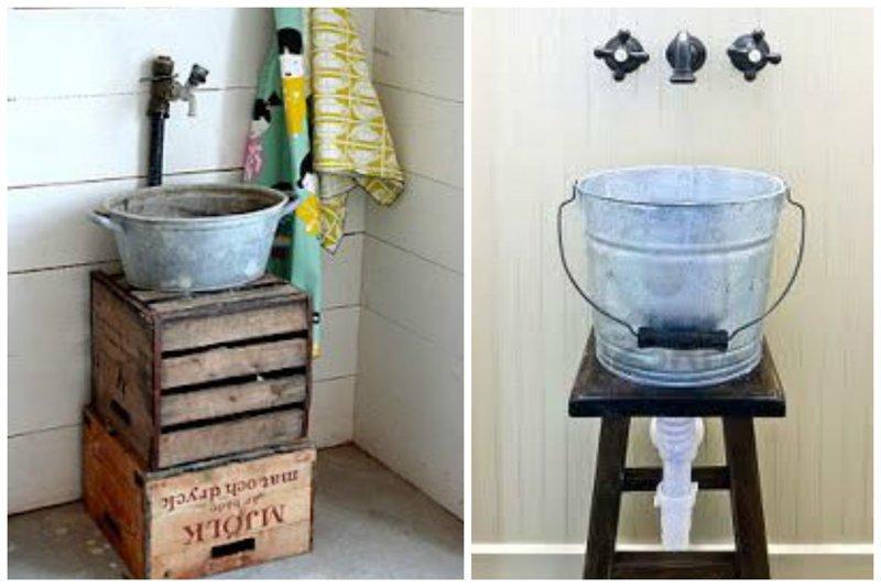 Ведра, выварки, тазики, ванночки Фабрика идей, ванная, дизайн, сделай сам, тазики, фантазия