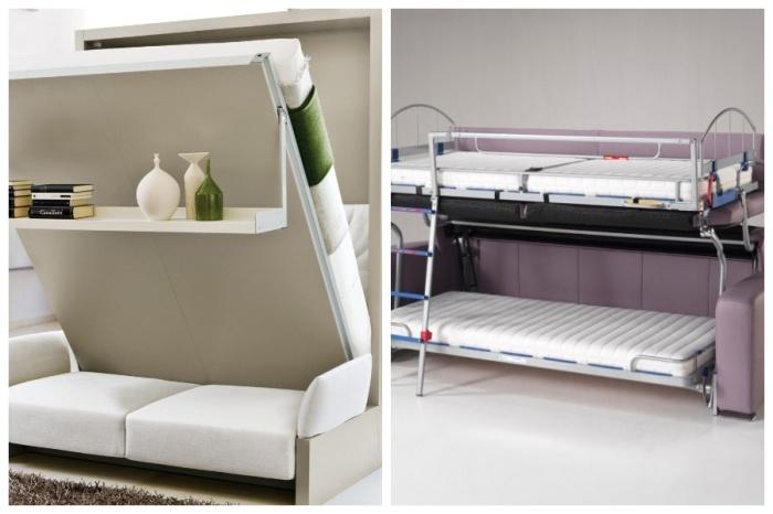 Кровать трансформер – настоящая находка для маленьких площадей. | Фото: mobili.ua.