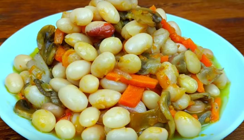 Шикарная фасоль с грибочками: вкуснейшее блюдо