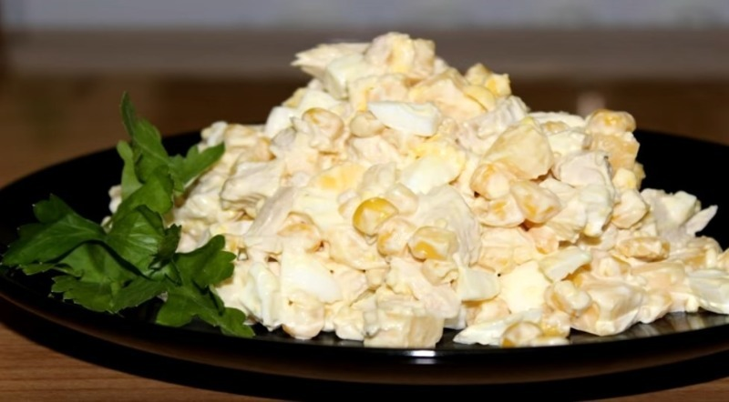 3 вкусных салата с кукурузой, проще которых я не знаю рецепты,салаты