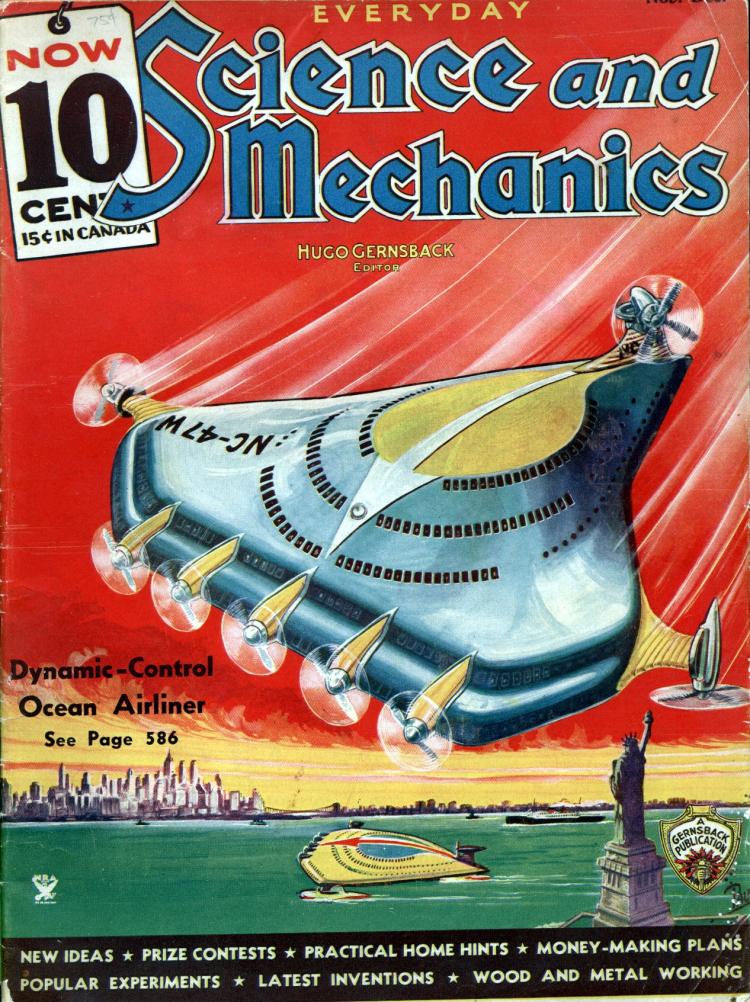 Как представляли будущий гражданский самолет в 1934 году