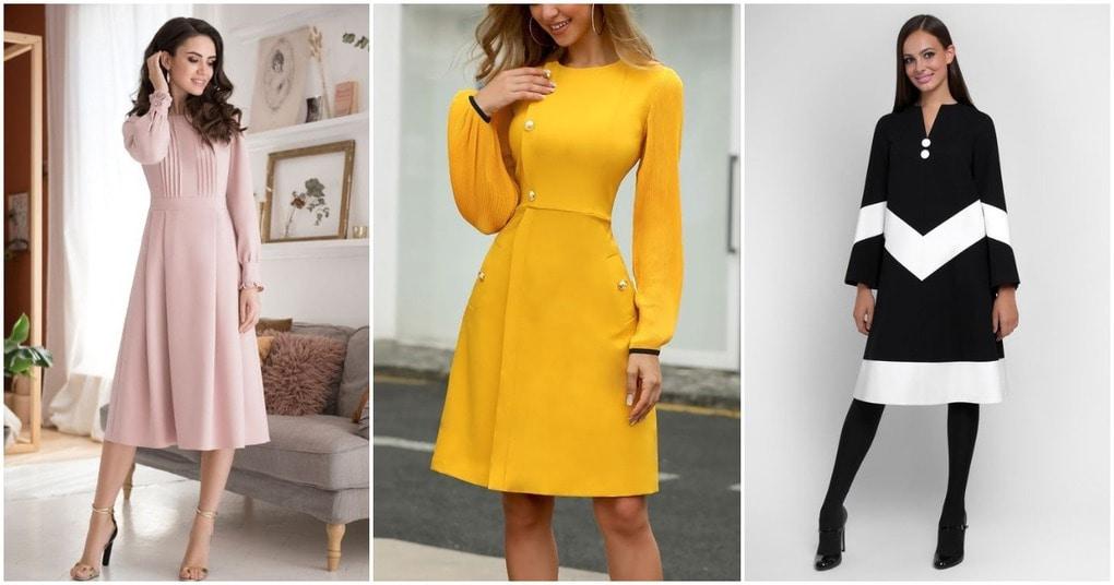 Обаятельна и привлекательна: элегантные платья на каждый день