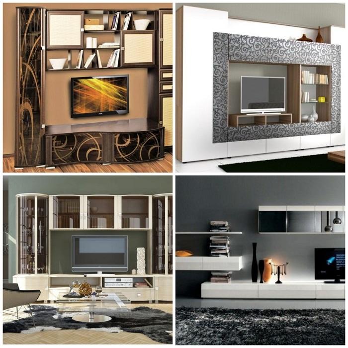 Такие мебельные стенки помогут создать стильный современный интерьер.