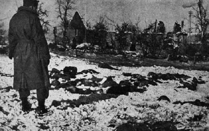 Тела убитых американских солдат.
