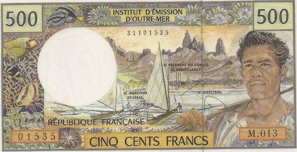 Красочная банкнота 500 франков